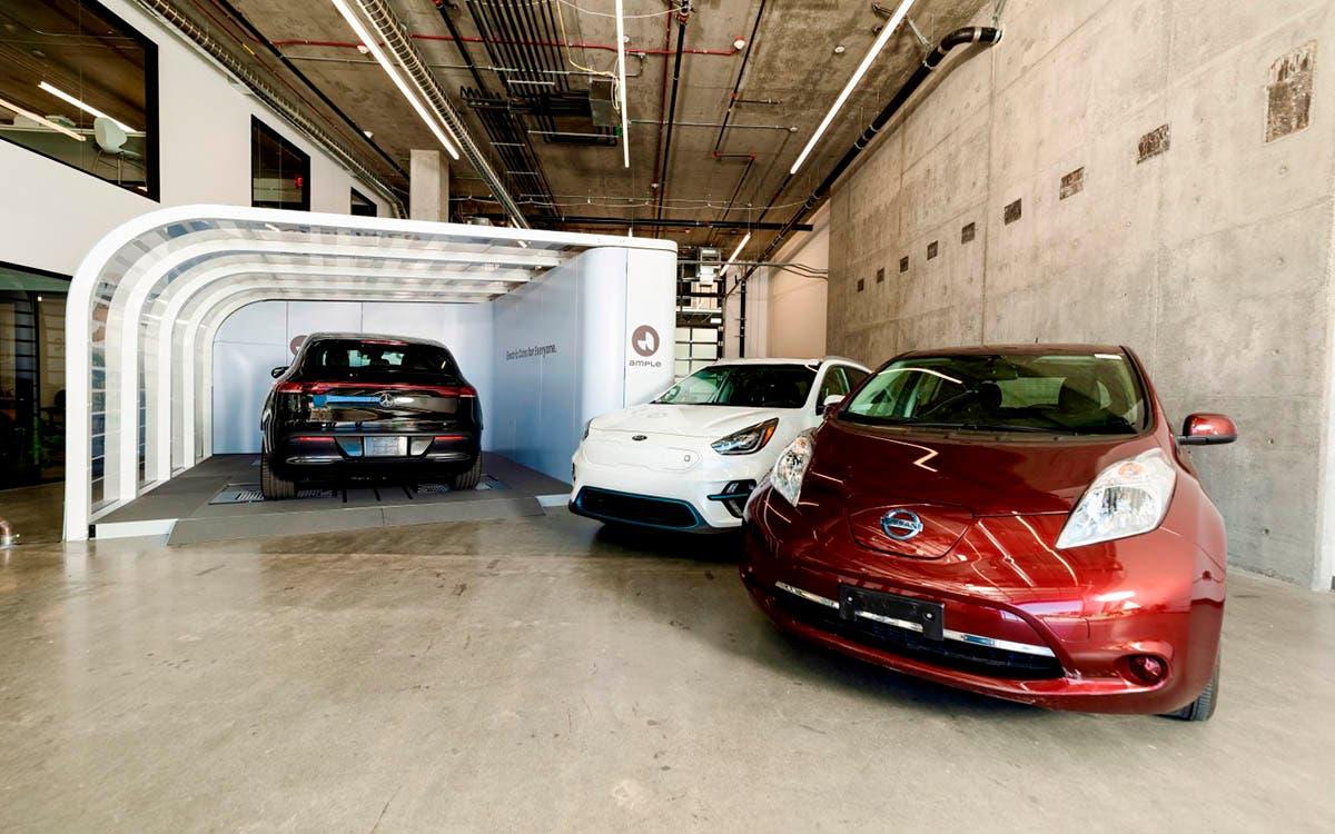 Ample propone un intercambio de baterías compatible con todos los coches eléctricos del mercado